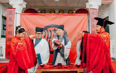 【全球华人】穿汉服行醮子礼喝合卺酒,一场庄严又美丽的汉式婚礼